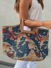 Spring Fling Woven Bag - Stitch And Feather
