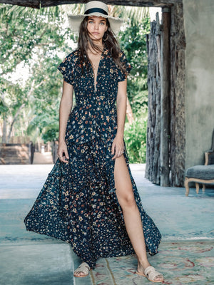Baily Floral Maxi Dress - Stitch And Feather