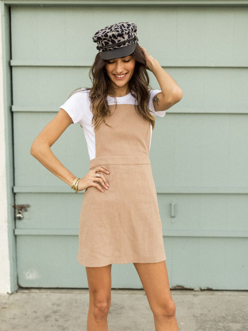 Bare Skin Mini Overall Skirt - Stitch And Feather