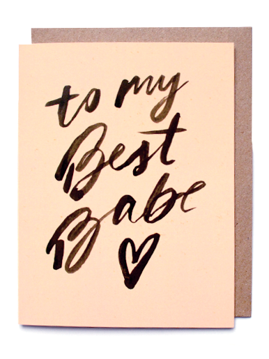 to my best babe, greeting card,
