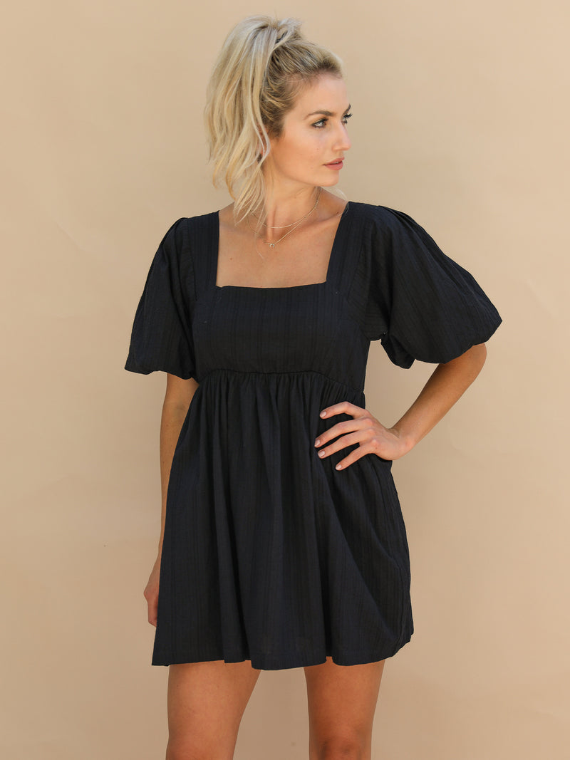 Sweetie Mini Dress in Black - Stitch And Feather