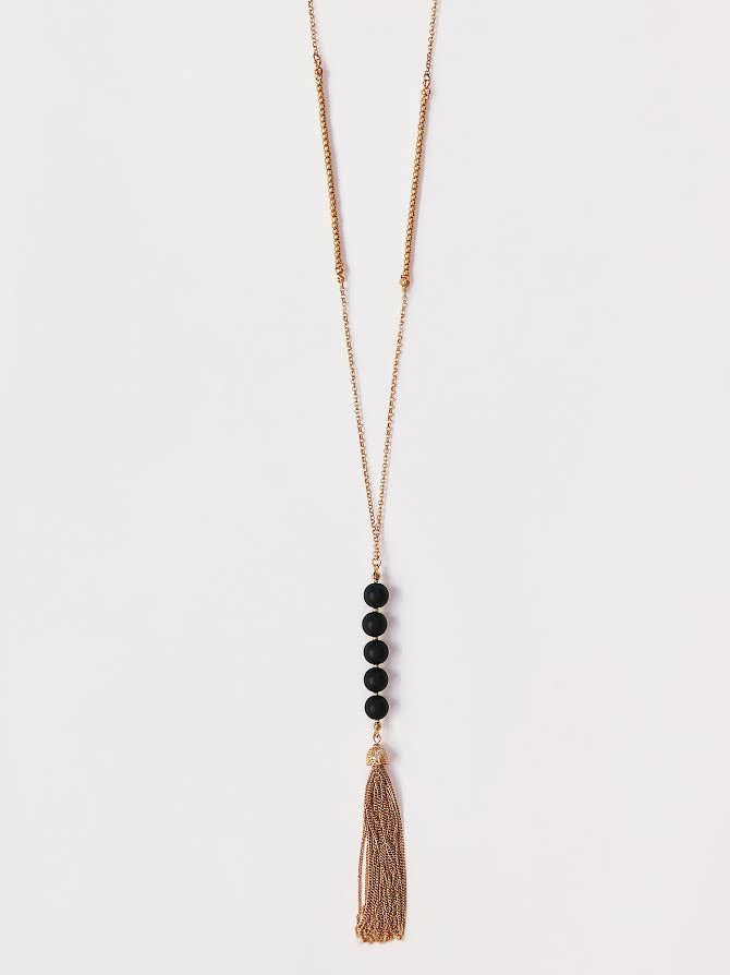 Bead Tassel Necklace - Stitch And Feather