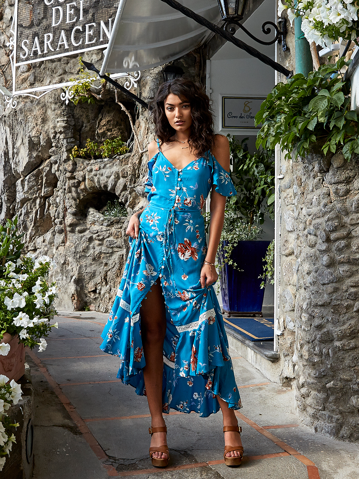5b56a1057f Blue Florence Maxi Dress – Stitch And Feather