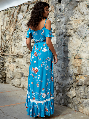 Blue Florence Maxi Dress - Stitch And Feather