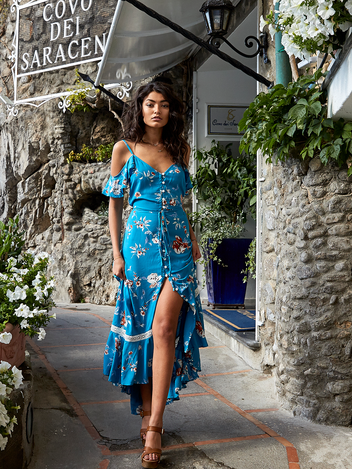 f2b5a3ef27 Blue Florence Maxi Dress - Stitch And Feather