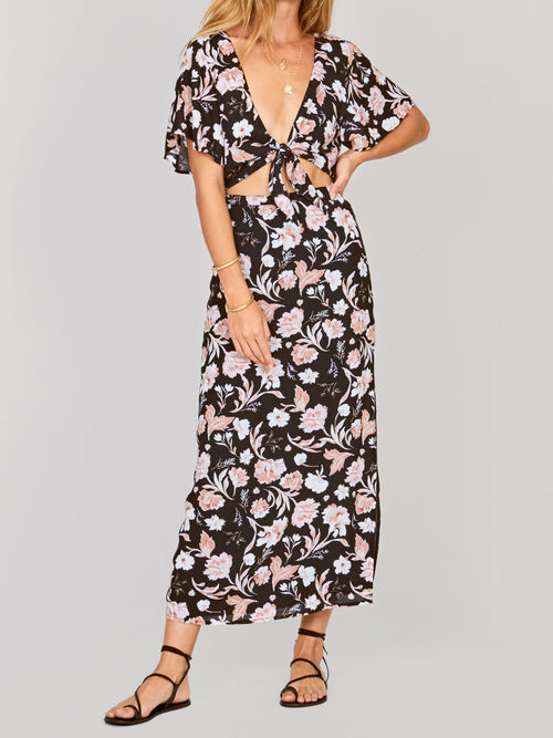 dress, cut off dress, amuse society, spring, floral,