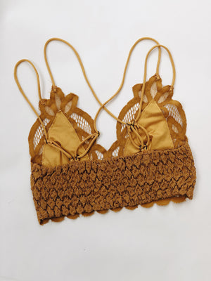Boho Bralette Mustard - Stitch And Feather