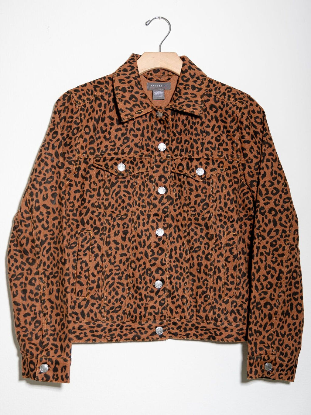 Leopard Trucker Jacket Brown - Stitch And Feather