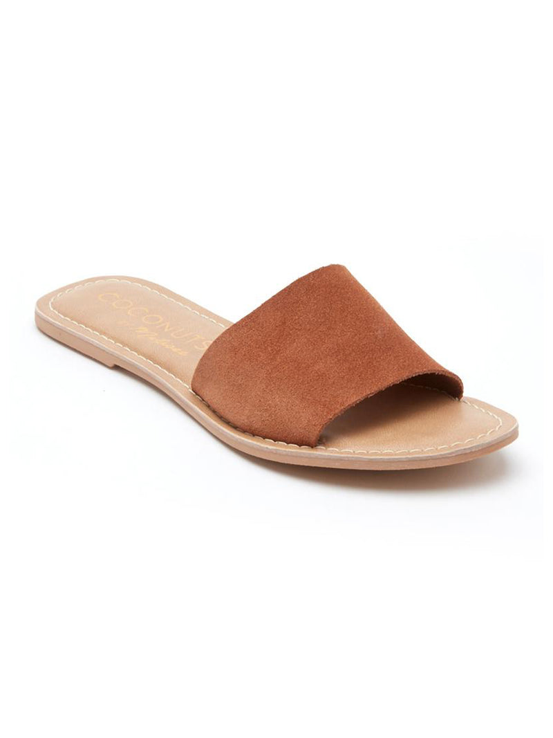 Cabana Slides in Tan - Stitch And Feather
