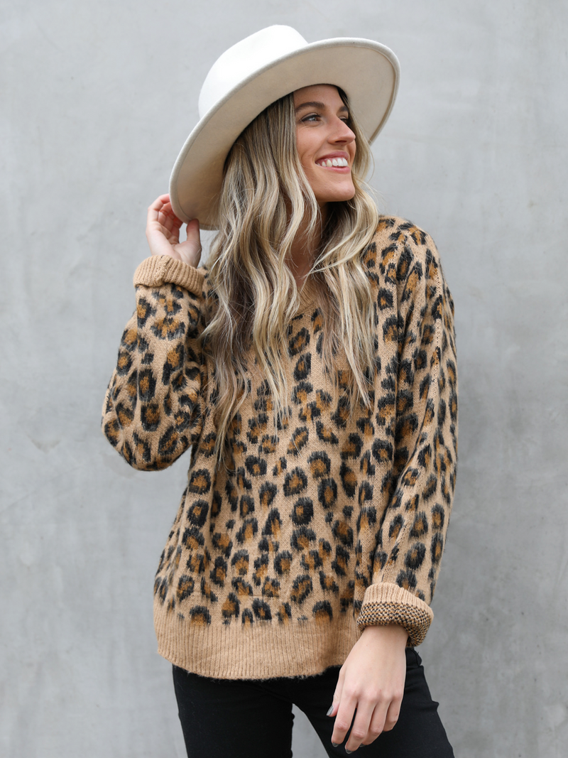 Leopard Love Sweater - Stitch And Feather