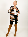 Anna Striped Cardigan - Stitch And Feather