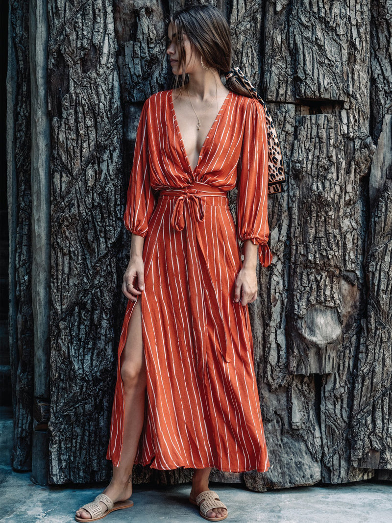 Coco Rust Maxi Dress - Stitch And Feather