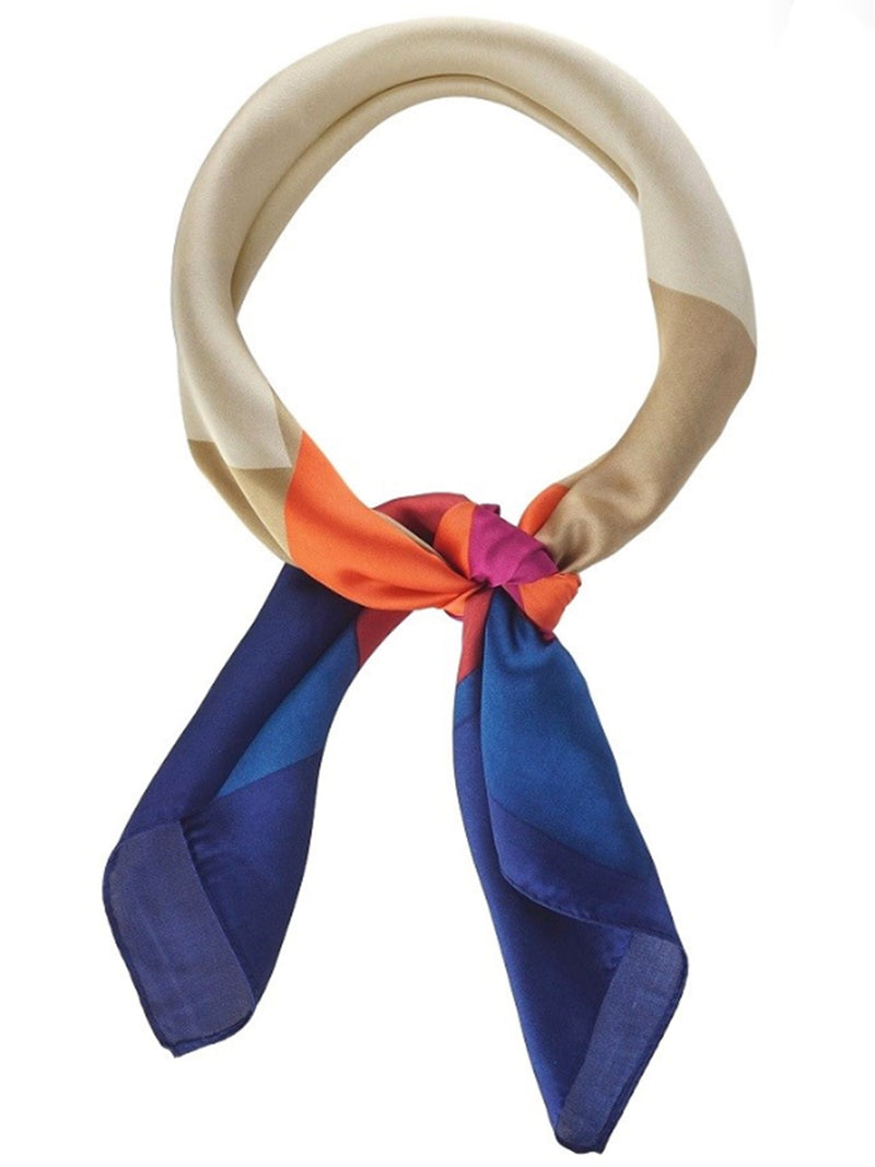 Color Block Neckerchief - Stitch And Feather