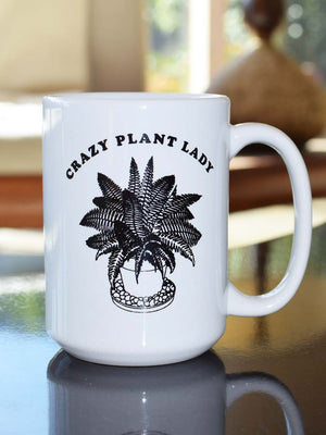 """Crazy Plant Lady"" Mug - Stitch And Feather"