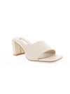 Lennox Mule in White Croc - Stitch And Feather