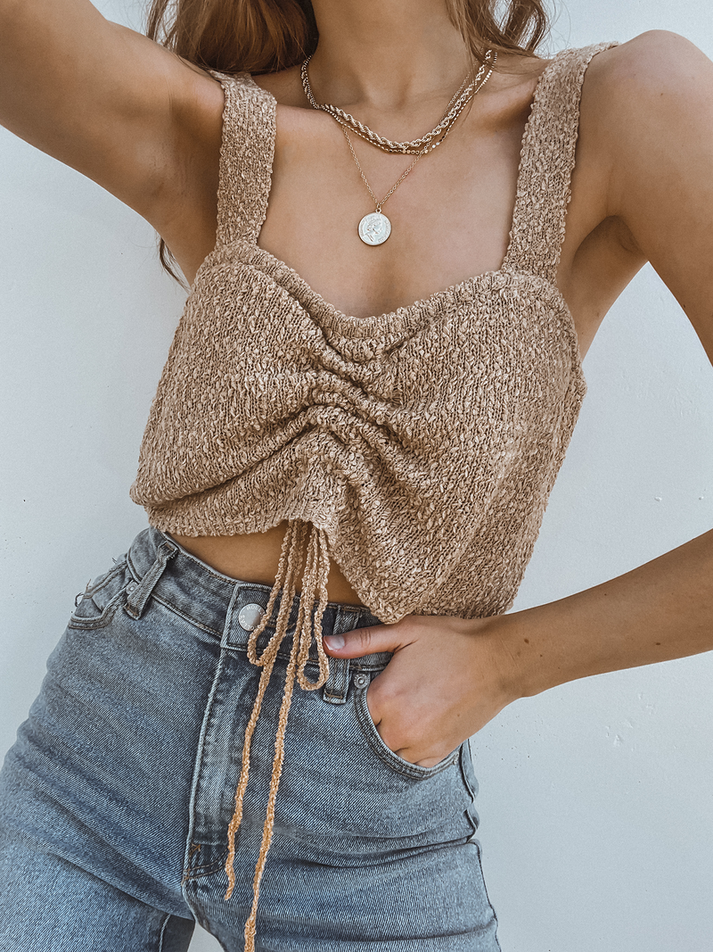 Sandstone Sweater Tank - Stitch And Feather