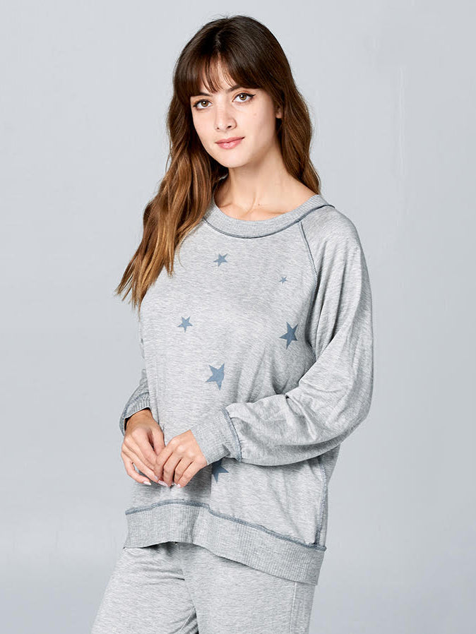 Star Terry Raglan Sweater