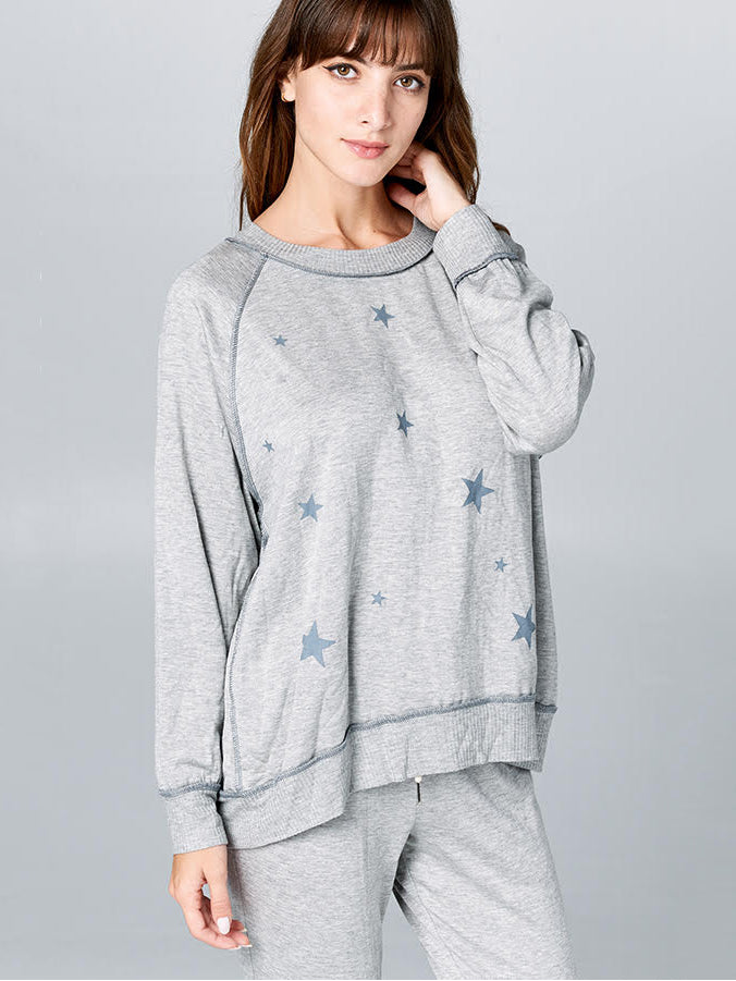 Star Terry Raglan Sweater - Stitch And Feather