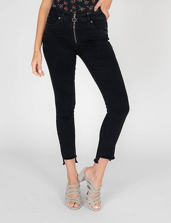 Emma Crop Fray Denim - Stitch And Feather