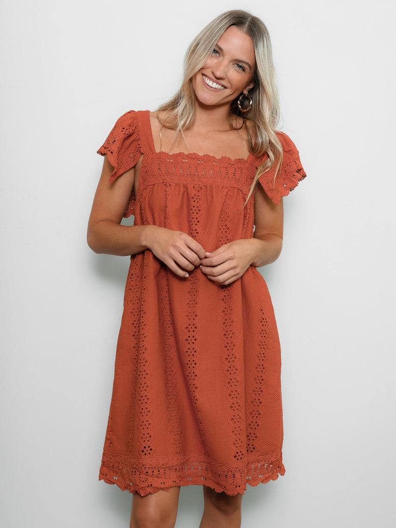 Carpe Diem Eyelet Dress - Stitch And Feather