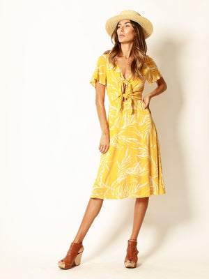 midi dress, golden beauty, d1538, mustard, vacation, holiday, event, party, casual