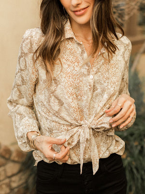 Frisky Button Down Top - Stitch And Feather