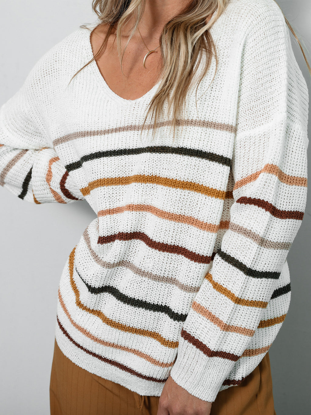 Bianca Striped Sweater - Stitch And Feather