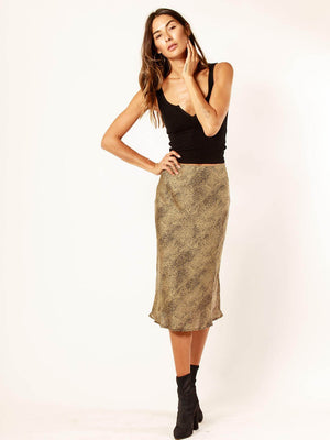 Gold Dust Midi Skirt - Stitch And Feather