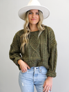 Pine Cable Knit - Stitch And Feather
