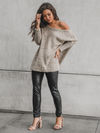 Heather Taupe Sweater - Stitch And Feather