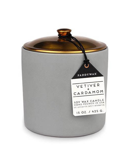 hygge, 15oz, vetiver and cardamom, paddywax, candles,
