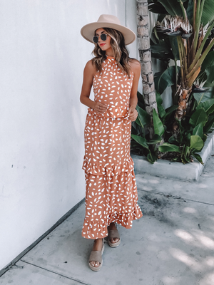 Call Me Up Tiered Maxi Dress - Stitch And Feather