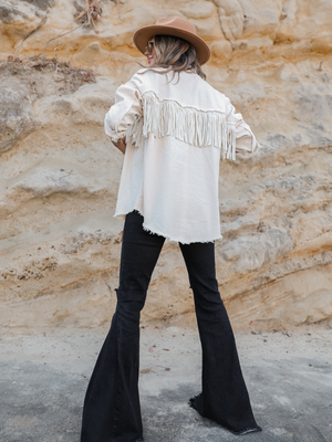 (PREORDER) Swing On By Fringe Jacket - Stitch And Feather