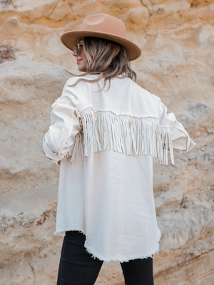Swing On By Fringe Jacket - Stitch And Feather