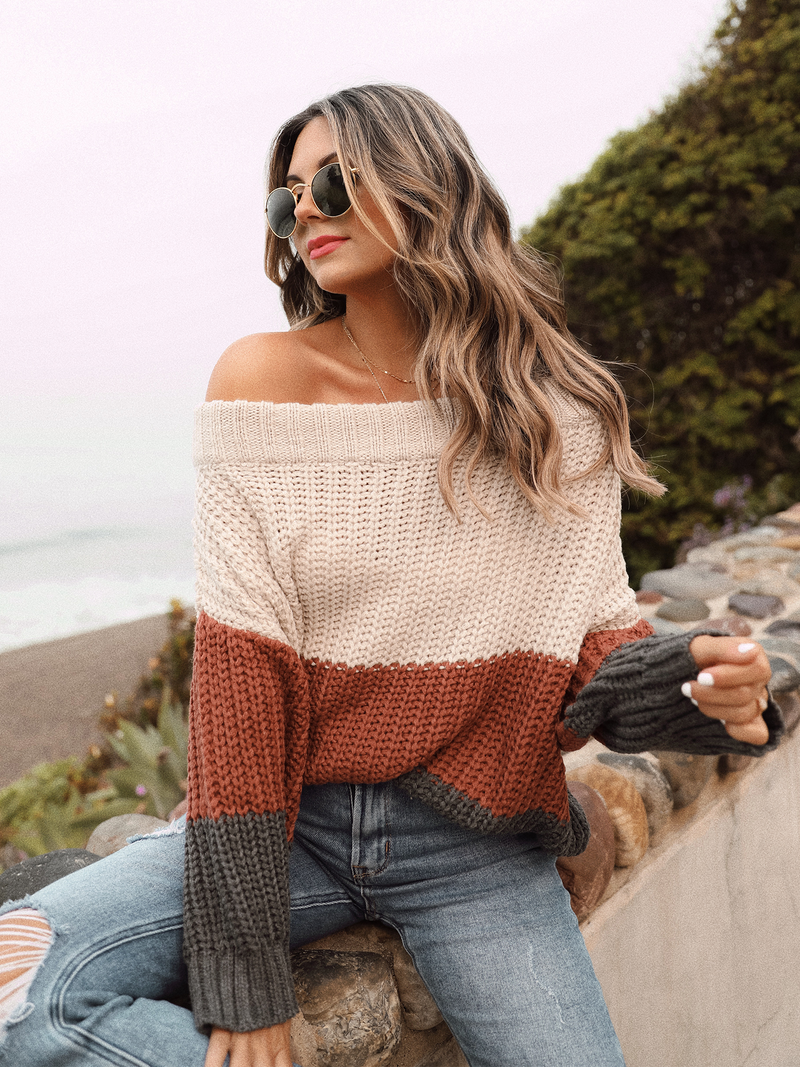 Hold the Line Knit Sweater - Stitch And Feather