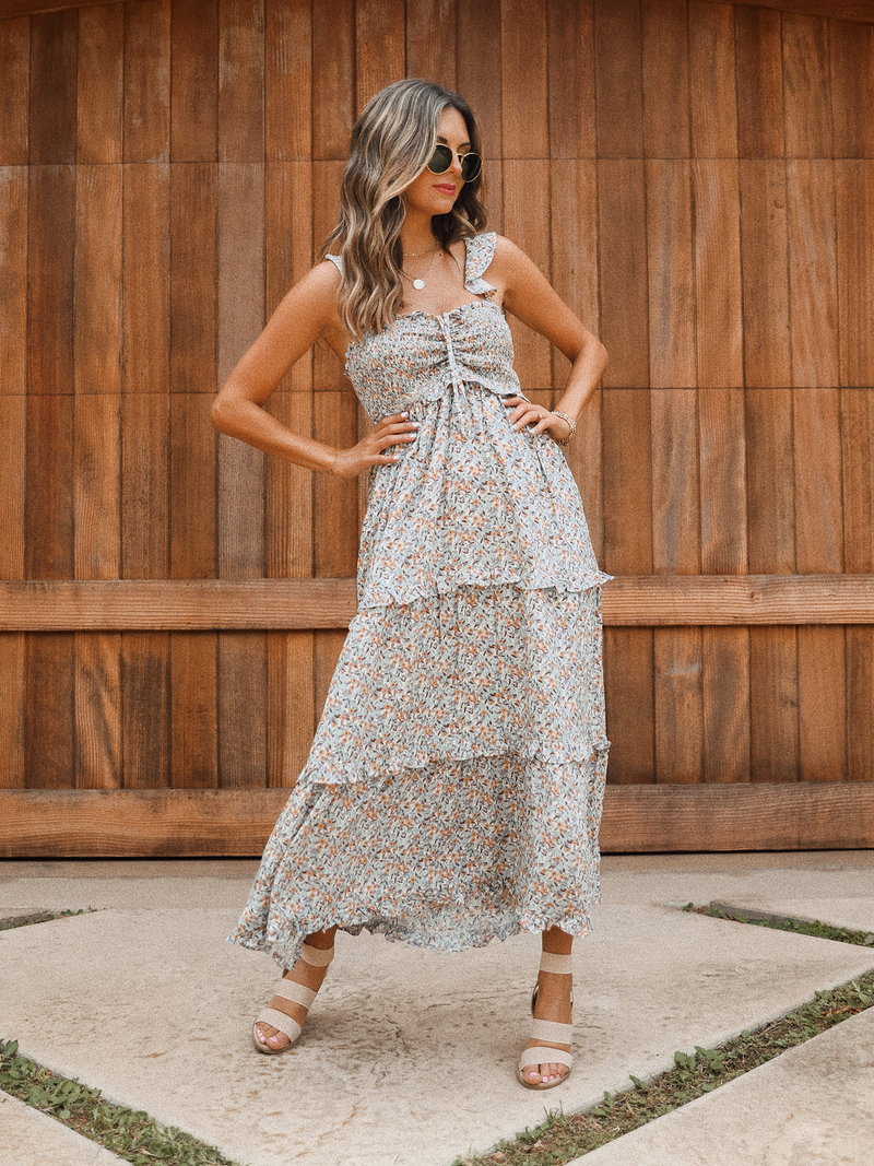 Napa Tiered Midi Dress - Stitch And Feather