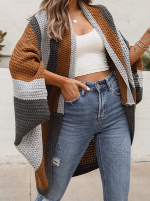Coming Home Color Block Cardigan - Stitch And Feather
