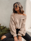 Creme Brulee Knit Sweater - Stitch And Feather
