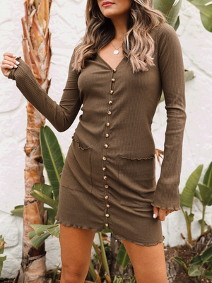 Eyes Wide Open Mini Dress - Stitch And Feather