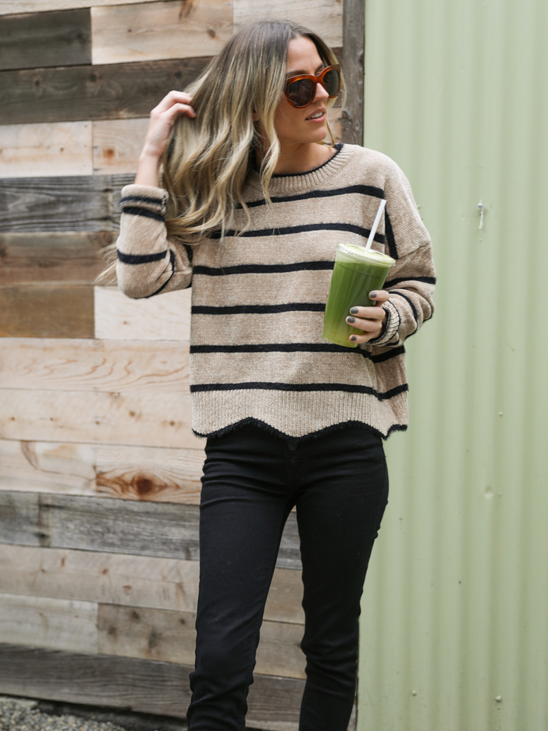 Ziggy Hem Sweater - Stitch And Feather