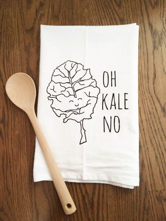 Oh Kale No Tea Towel