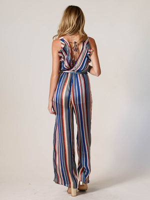 Key West Ruffle Jumpsuit - Stitch And Feather