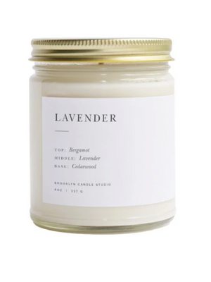 Lavender Minimalist Candle - Stitch And Feather