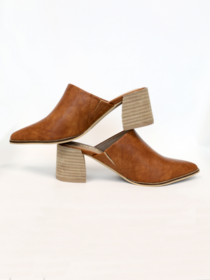 Stephanie Mule in Tan - Stitch And Feather