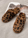 Leopard Fuzzy Slippers - Stitch And Feather