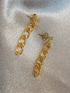 Gold Chain Link Earrings - Stitch And Feather