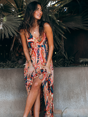 Feelin' Groovy Midi Dress - Stitch And Feather