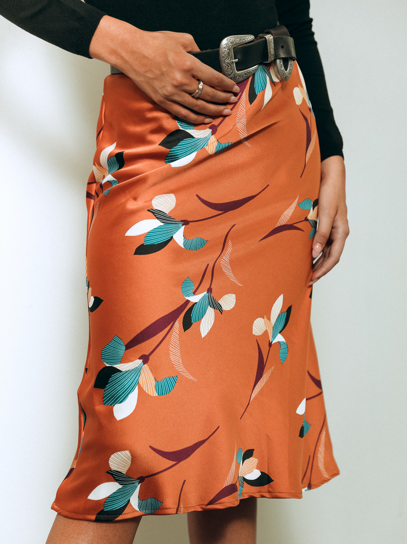 Autumn Breeze Midi Skirt - Stitch And Feather