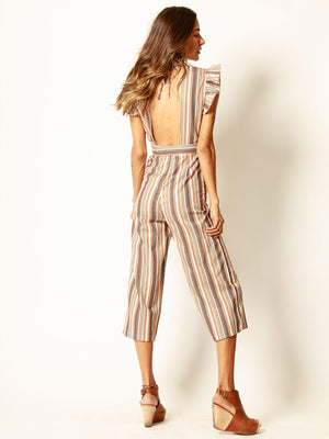 Mocha Blend Jumpsuit - Stitch And Feather