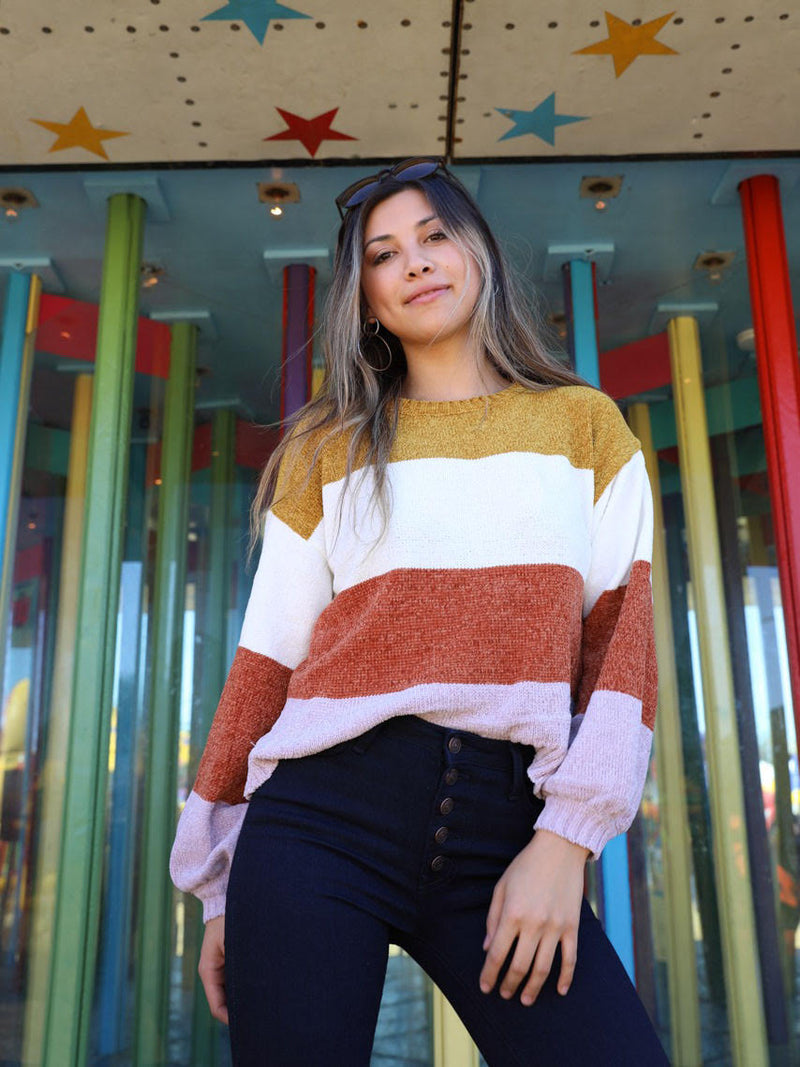 Monterey Color Block Sweater